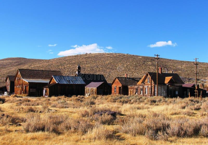 Vecchia città di estrazione mineraria immagine stock libera da diritti