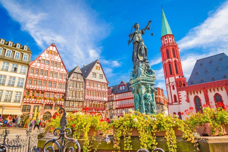 Vecchia città di Francoforte immagine stock