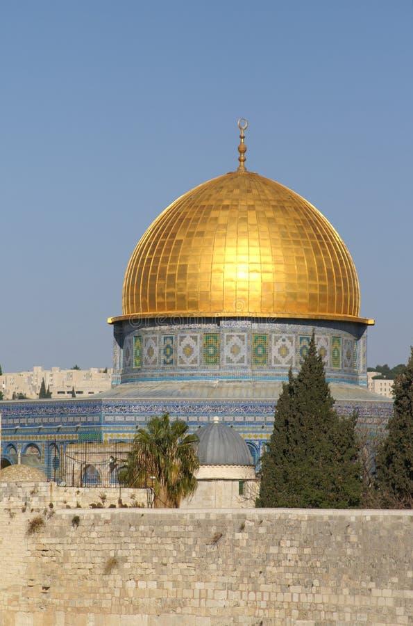 Vecchia città di Gerusalemme - cupola della roccia fotografia stock libera da diritti