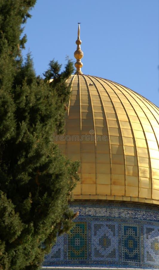 Vecchia città di Gerusalemme - cupola della roccia immagine stock libera da diritti