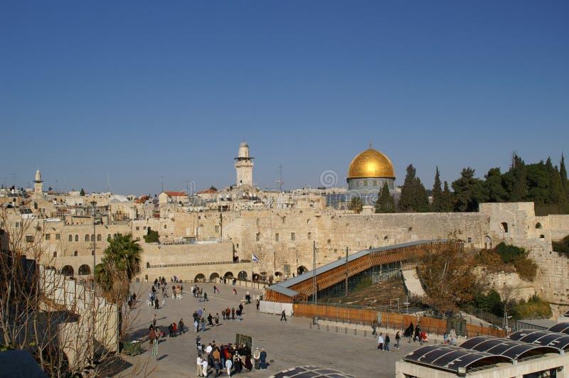 Vecchia città di Gerusalemme - cupola della roccia immagini stock libere da diritti