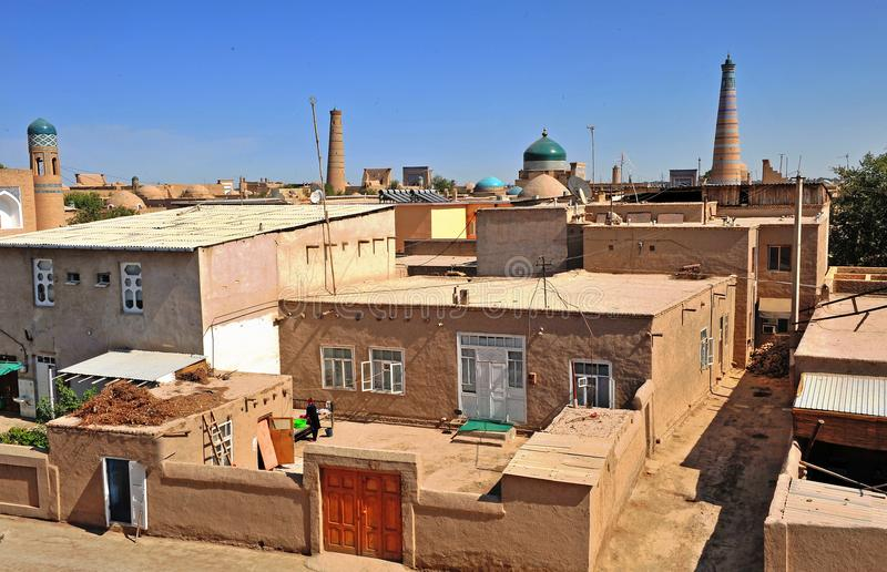 Vecchia città di Khiva fotografie stock libere da diritti
