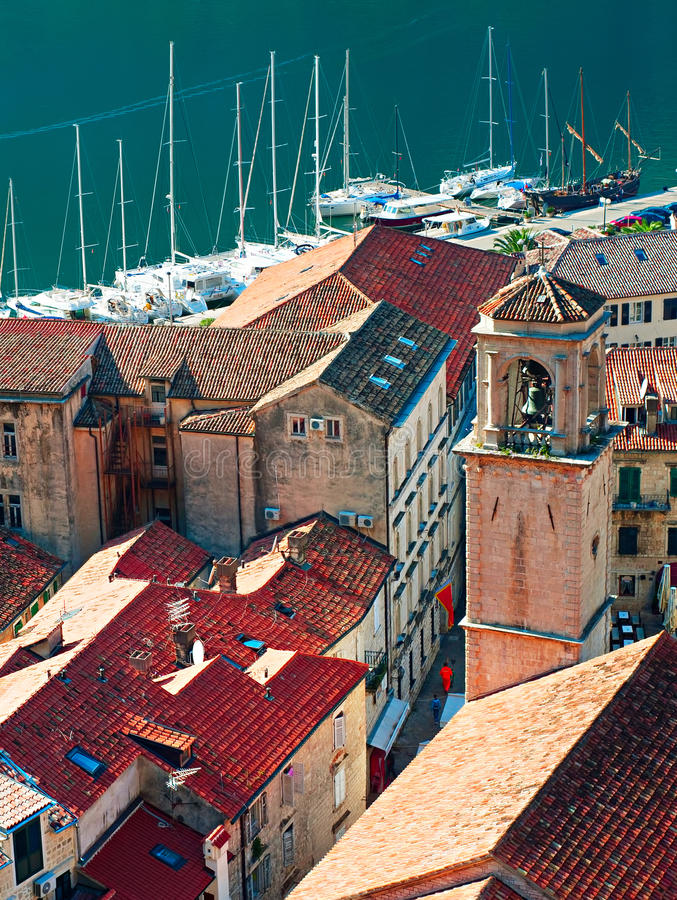 Vecchia città di Kotor, Montenegro fotografie stock