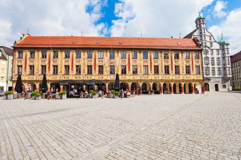 Vecchia città di Memmingen, Germania fotografie stock libere da diritti