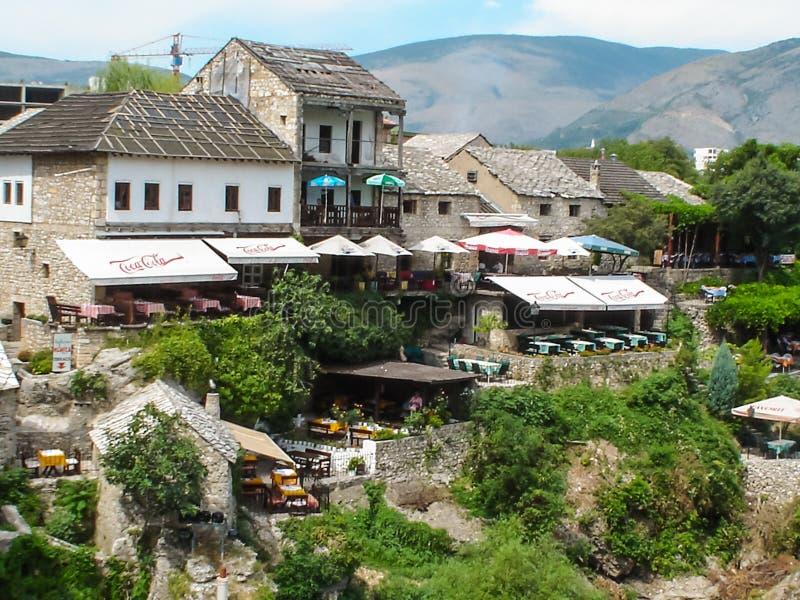 Vecchia città di Mostar fotografia stock libera da diritti