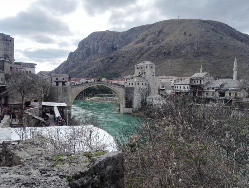Vecchia città di Mostar, Bosnia&Herzegovina immagine stock