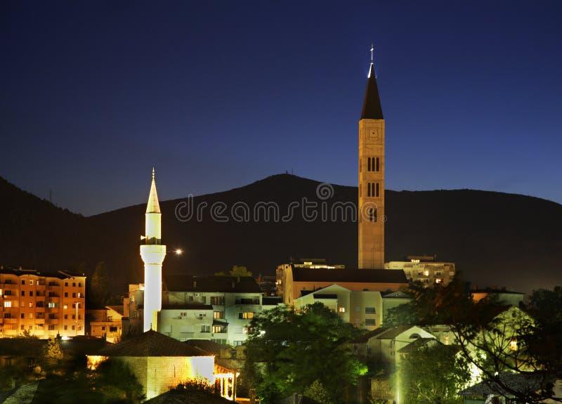 Vecchia città di Mostar La Bosnia-Erzegovina fotografia stock libera da diritti