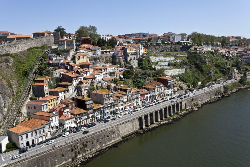 Vecchia città di Oporto, sito del patrimonio mondiale fotografia stock libera da diritti