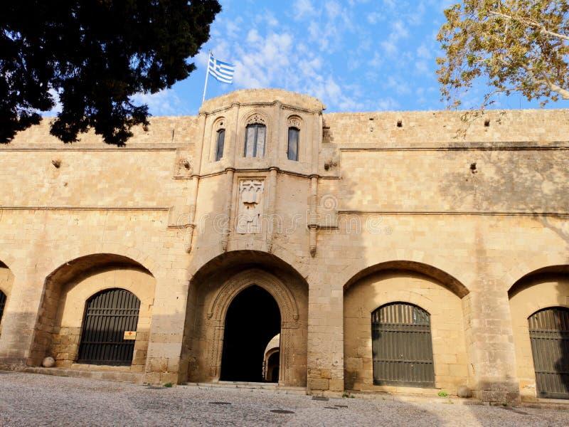Vecchia città di Rhodos fotografia stock