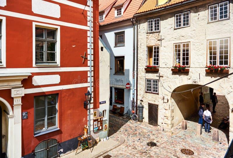 Vecchia città di Riga Il Northern Europe latvia immagine stock