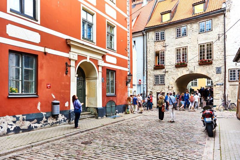 Vecchia città di Riga Il Northern Europe latvia immagine stock libera da diritti