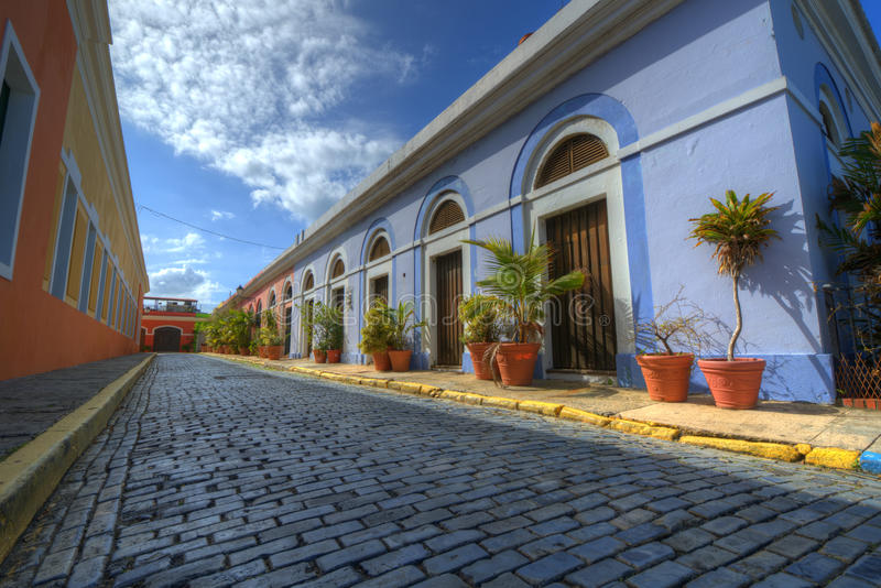 Vecchia città di San Juan fotografia stock