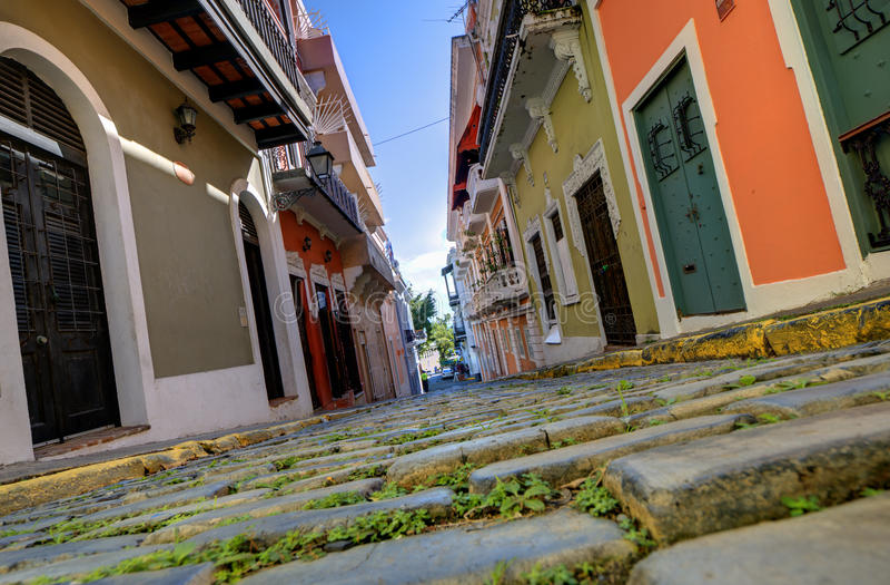 Vecchia città di San Juan fotografia stock libera da diritti