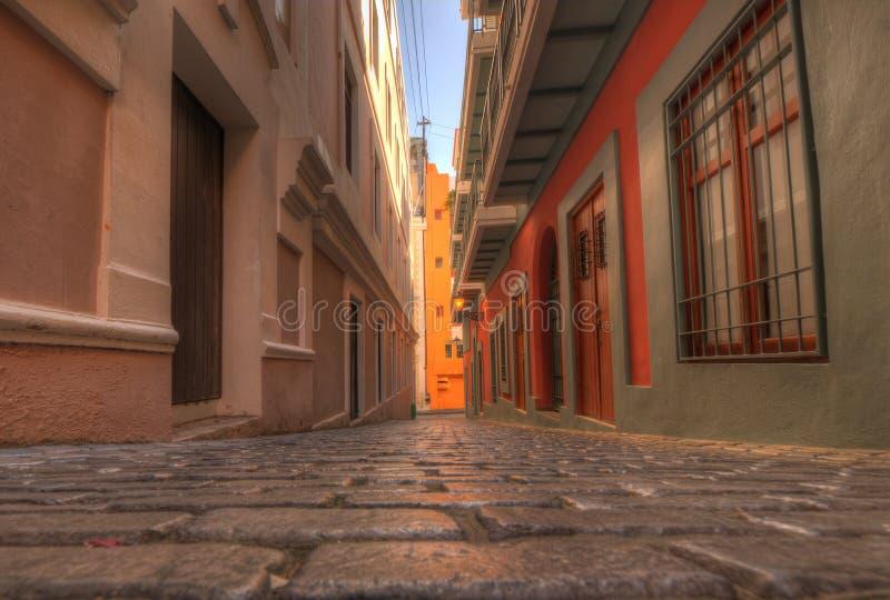Vecchia città di San Juan immagine stock