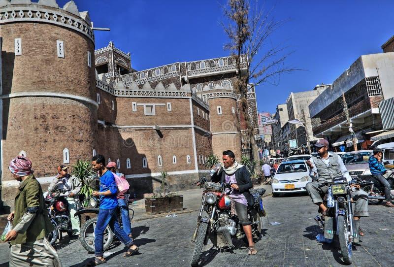 Vecchia città di Sana'a fotografie stock