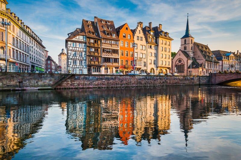 Vecchia città di Strasburgo, Francia fotografia stock libera da diritti