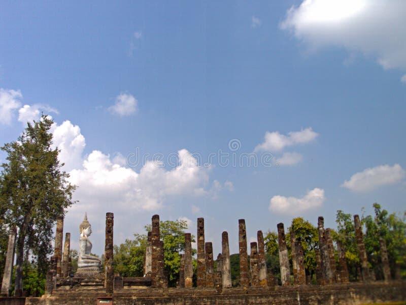 Vecchia città di Sukhothai, parte centrale fotografie stock libere da diritti