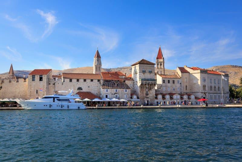 Vecchia città di Traù, Croazia immagine stock libera da diritti