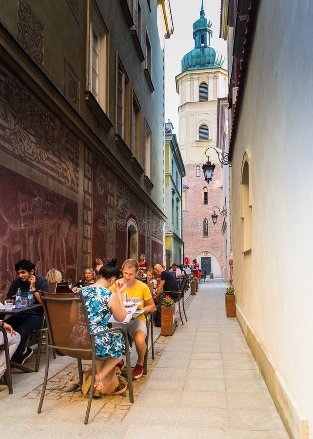 Vecchia città di Varsavia, Polonia fotografia stock libera da diritti