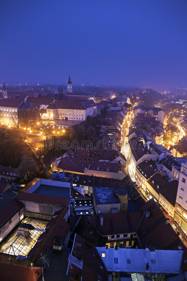 Vecchia città di Zagabria immagini stock libere da diritti