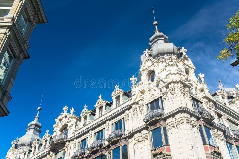 Vecchia città di Zurigo fotografia stock libera da diritti