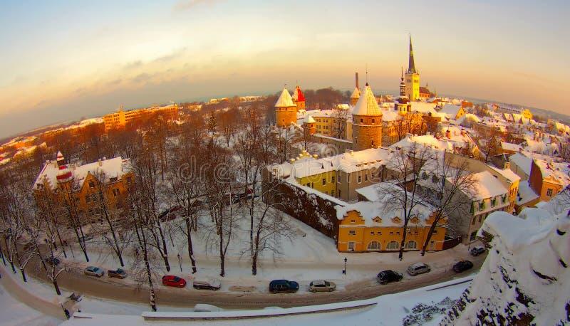 Vecchia città, Estonia Tallinn fotografia stock libera da diritti