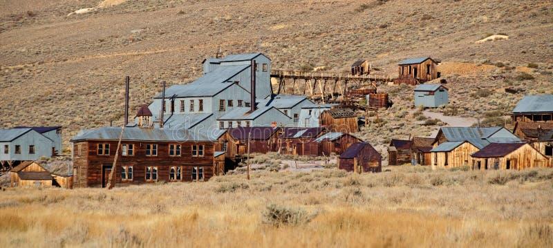 Vecchia città fantasma di estrazione mineraria in america ad ovest fotografia stock libera da diritti