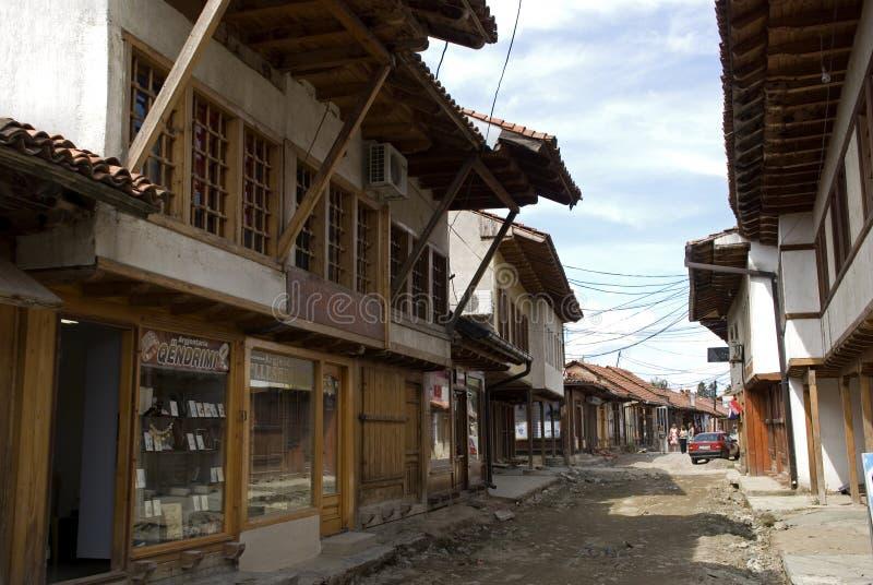Vecchia città, Gjakova, il Kosovo fotografia stock