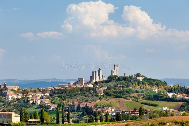 Vecchia città italiana del San Gimignano immagini stock libere da diritti