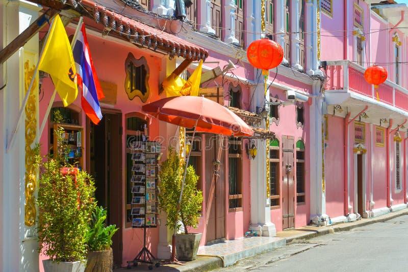 Vecchia città l'8 luglio 2015 Phuket, Tailandia di Phuket fotografia stock libera da diritti