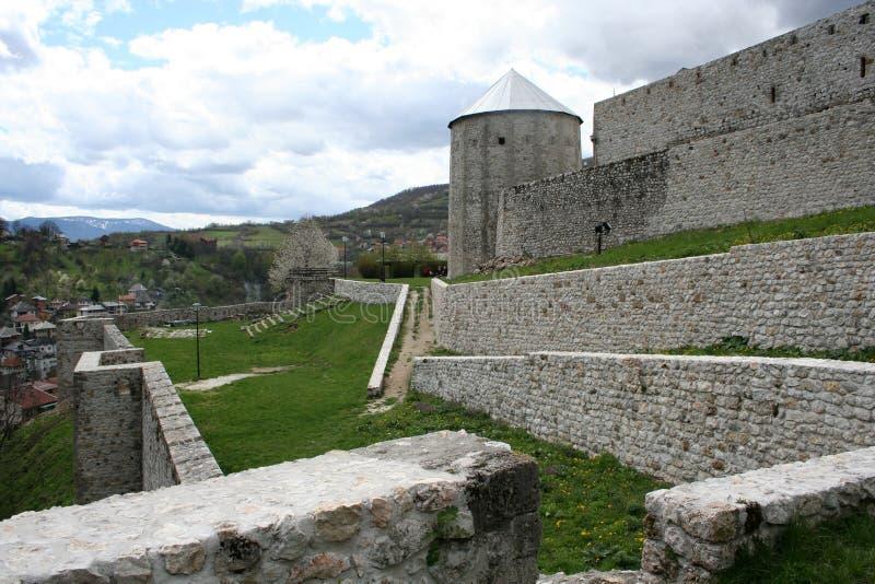 Vecchia città medioevale Travnik fotografia stock libera da diritti