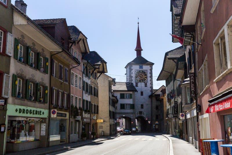 Vecchia città Mellingen in Svizzera fotografie stock