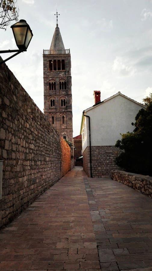 Vecchia città Rab immagine stock libera da diritti
