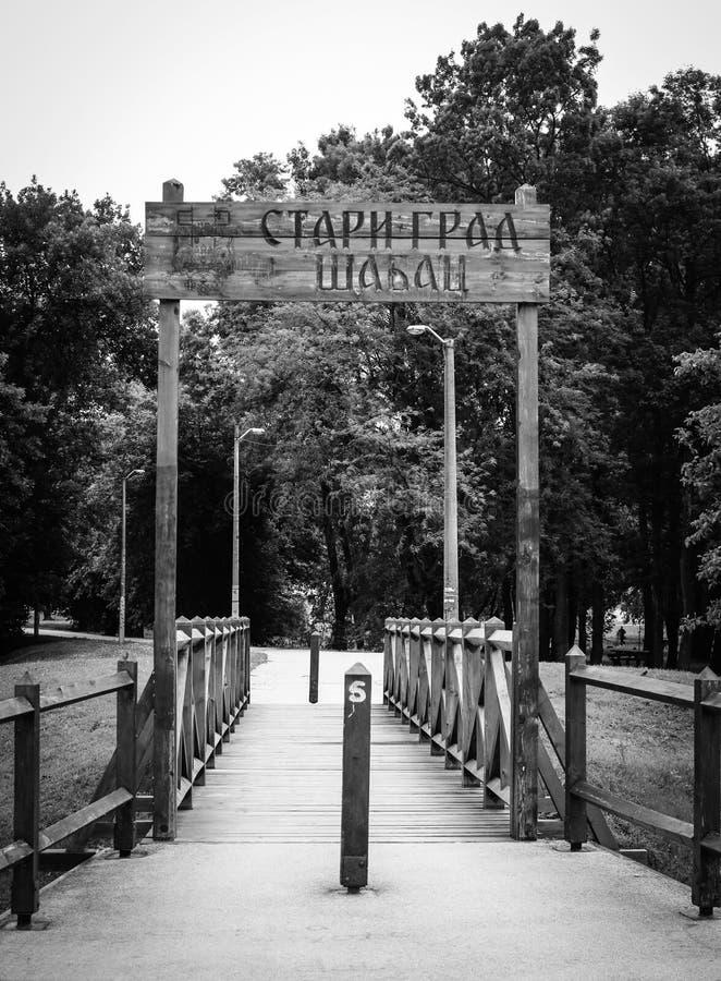 Vecchia città Sabac, Serbia immagini stock libere da diritti