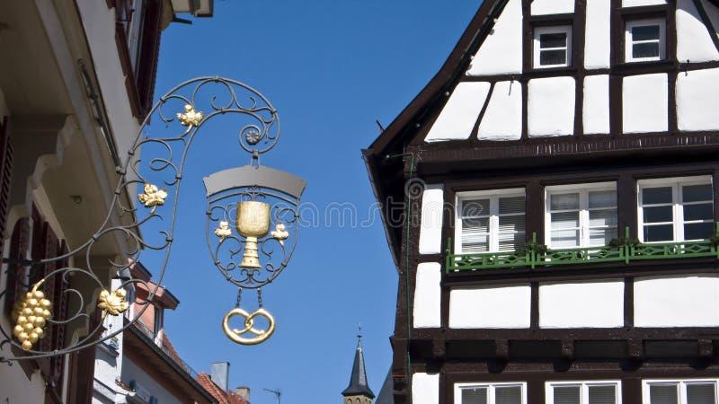 Vecchia città tedesca immagine stock