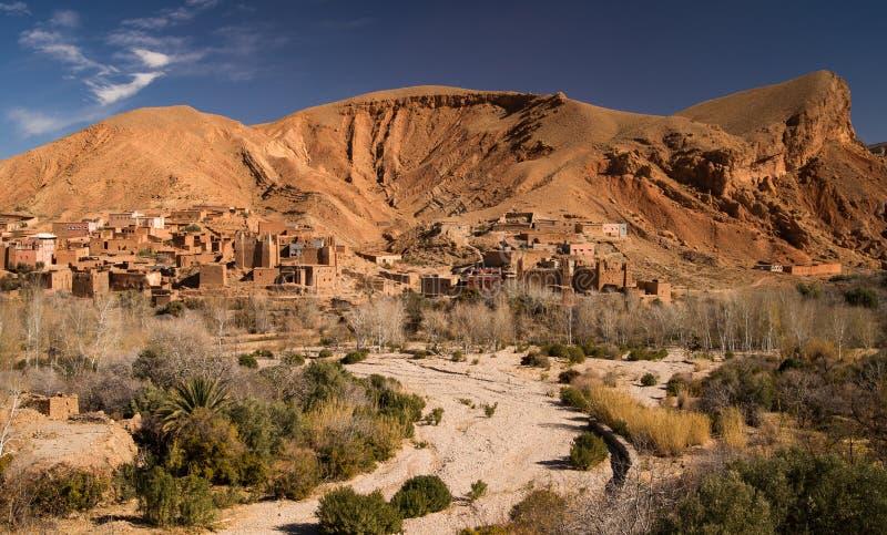 Vecchia città in valle di Dades fotografia stock libera da diritti