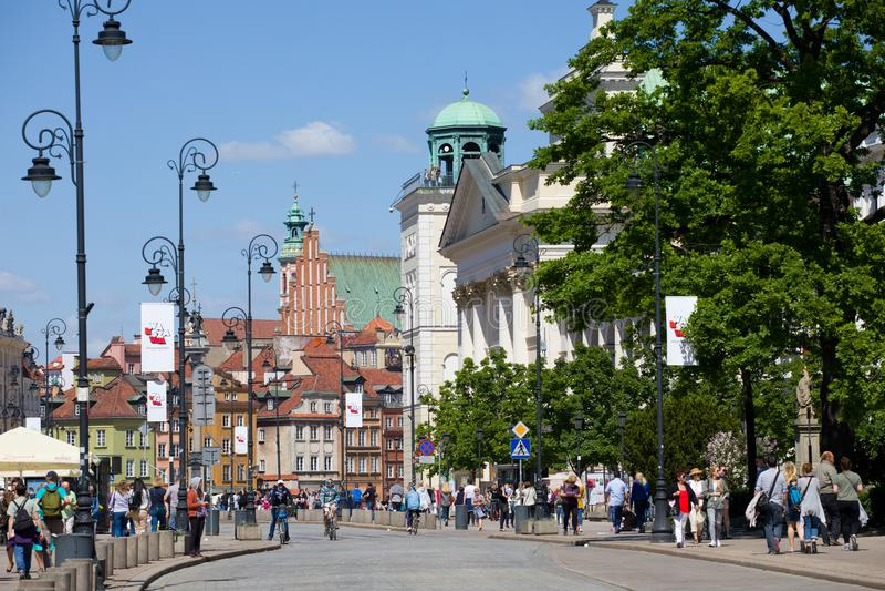 Vecchia città a Varsavia fotografia stock libera da diritti