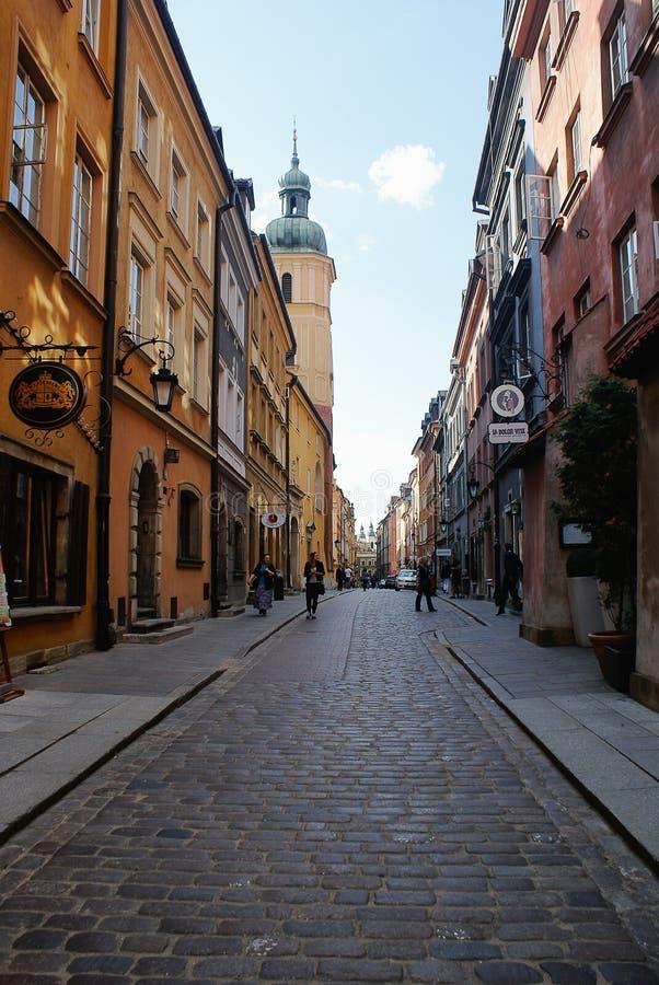 Vecchia città a Varsavia, Polonia fotografie stock libere da diritti