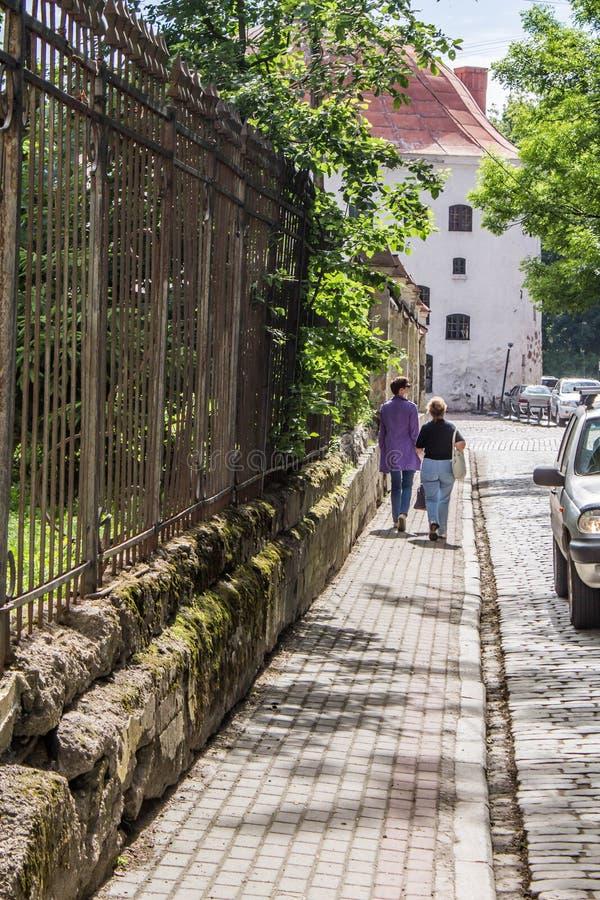 Vecchia città in Vyborg immagine stock libera da diritti