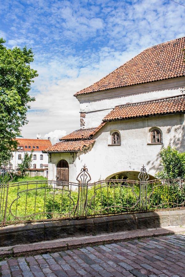 Vecchia città in Vyborg fotografia stock