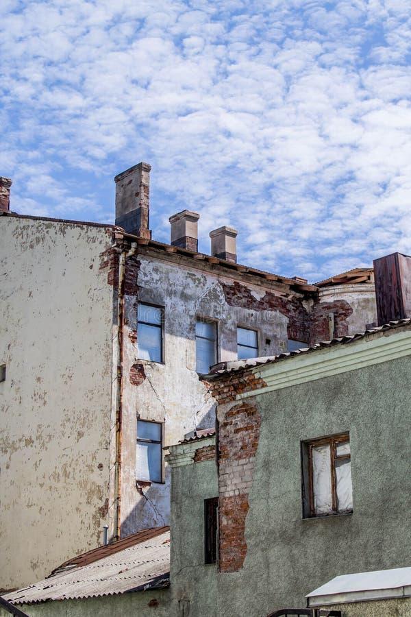 Vecchia città in Vyborg immagine stock