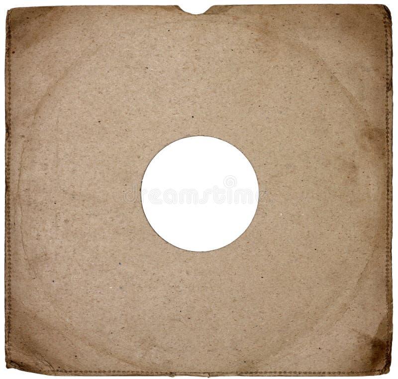 Vecchia copertina di disco fotografia stock
