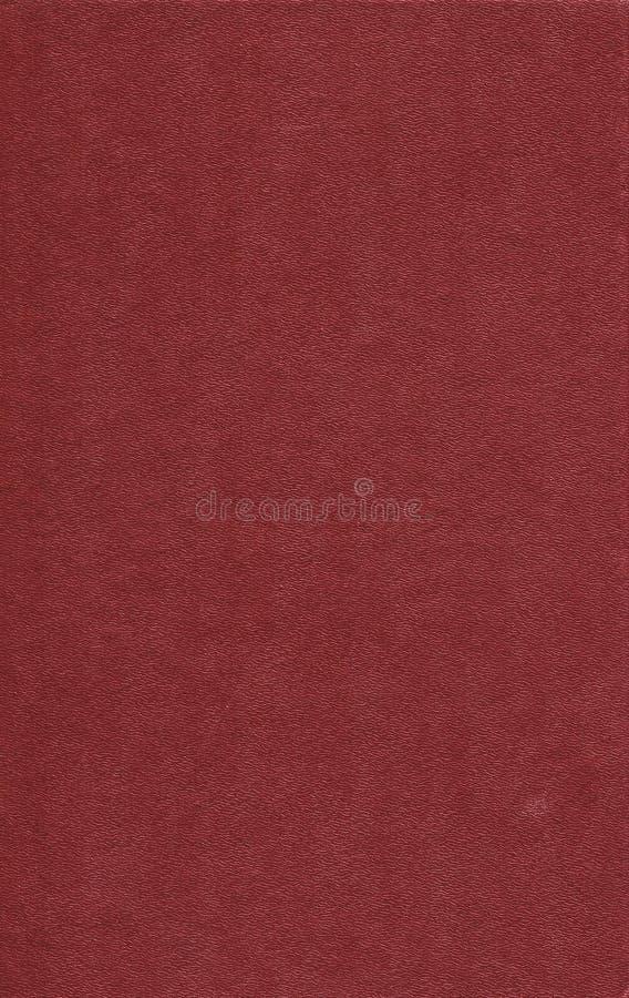 Vecchia copertina di libro di cuoio rossa Fondo fotografie stock