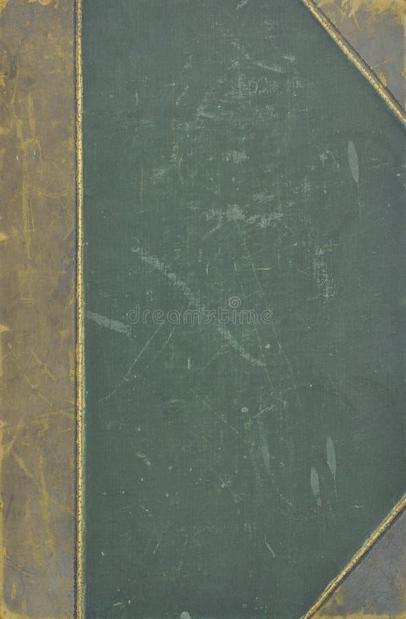 Vecchia copertina di libro del cuoio e della tela di canapa immagini stock libere da diritti