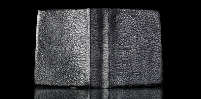 Vecchia copertina di libro di cuoio, struttura dell'annata riflessa fotografia stock libera da diritti