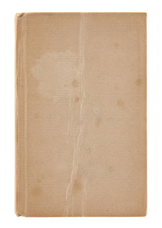Vecchia copertina di libro sporca fotografia stock