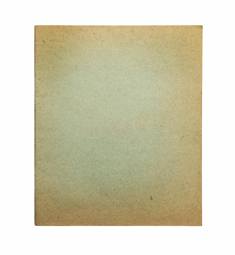 Vecchia copertina di libro verde di esercitazione immagine stock libera da diritti