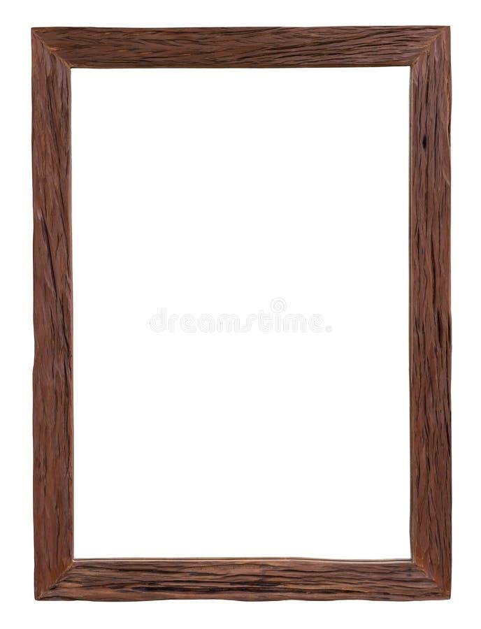 Vecchia cornice di legno dell'isolato fotografie stock