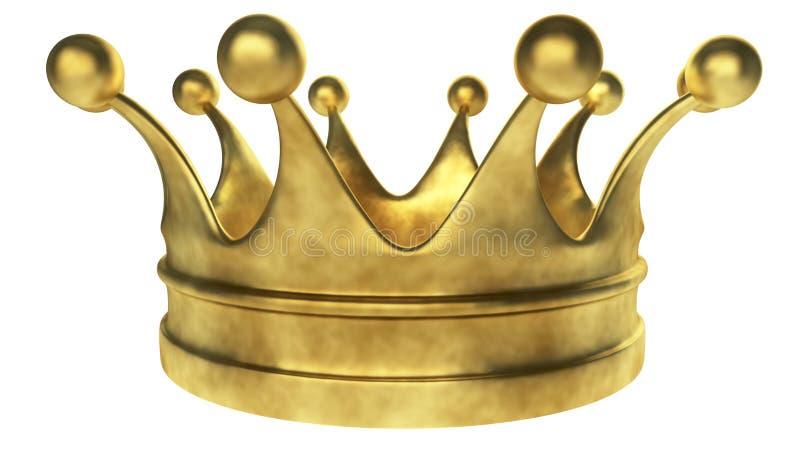 Vecchia corona dorata royalty illustrazione gratis