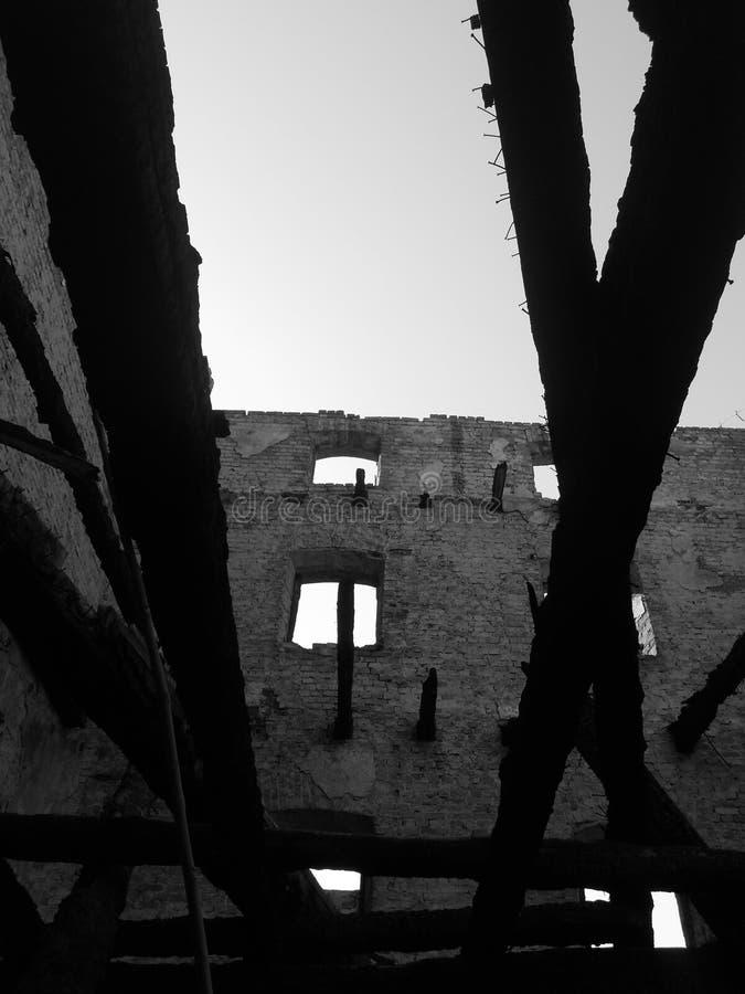 Vecchia costruzione astratta immagini stock libere da diritti